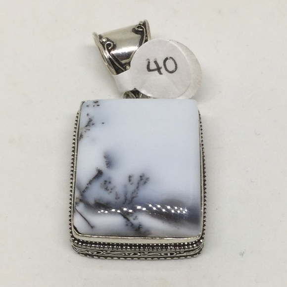handmade Jewelry - Dendrite Opal Silver Pendant